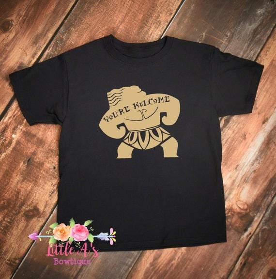 Maui shirt moana maui you 39 re welcome moana shirt boys for Maui shirt tattoo