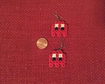 Pac-Man Ghost Perler Earrings