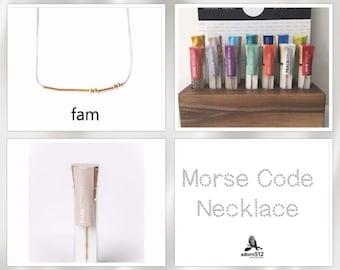 Family Morse Code, Family Necklace, Morse Code, Morse Code Necklace, Gold Morse Code, Family Necklace, Necklace Morse Code, Family