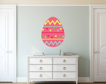 Decorated Pink Easter Wall Sticker