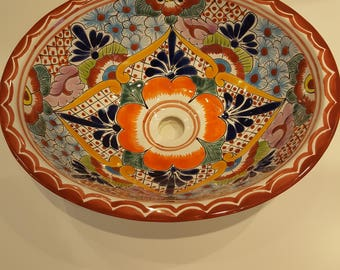 Talavera Sink Terracota Border