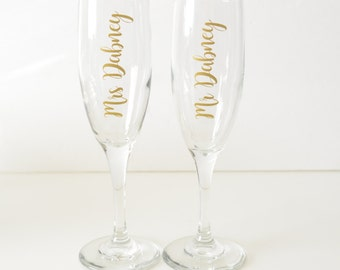 Custom Champagne Glasses, Bride Toasting Glass, Custom Champagne Flute, Toasting Flutes, Bridesmaid Flutes, Bridesmaid Champagne Flutes