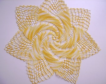Crocheted Doilies 26/18 cm vintage hand made