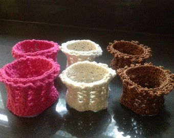 Crochet wrist cuffs, bracelet, sleeve extension