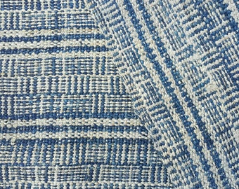 Hand woven hand spun Hmong hemp fabric natural indigo dye (H185)
