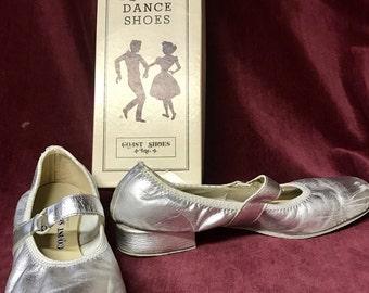 Vintage COAST Square Dance Shoes - Ringo - Silver - Size 8N