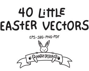 40 Little Easter Vectors