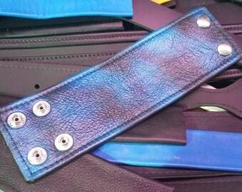 Bracelets Cuffs Black & Blue  Leather Restraint Bracelets
