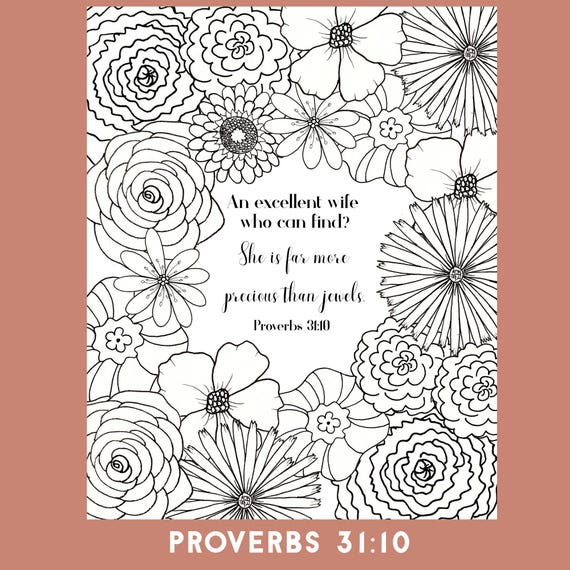 Bible Verse Coloring Page Proverbs