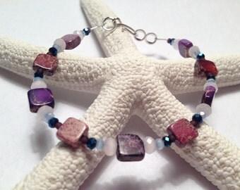 Dyed Imperial Jasper Bracelet