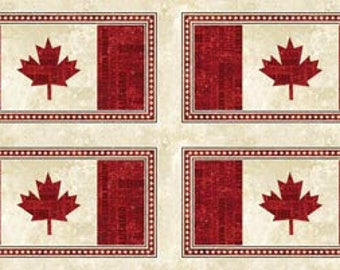 O Canada Canadian Flag Panel Northcott Stonehenge Quilt Cotton