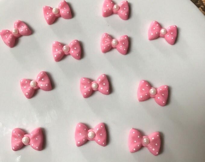 Pink Fondant Bows
