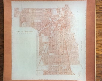 "Decoupage Glass Plate ""Evanston"""