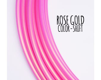 NEW Rose Gold Color Shift 5/8 Polypro Hoops ~ ColorMorph Polypro Hoops, Pink/Gold ColorShift 5/8 Polypro, FestivalTreasures, Fast Shipping
