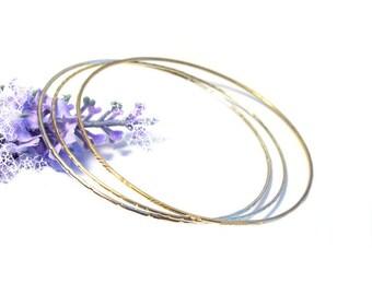 Bangles 835 silver gold plated, vintage bracelet silver, gold plated, narrow bangles