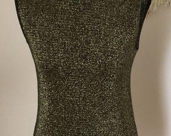 Vintage 1980's Knitted Metallic Tank Top