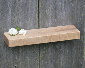 Curly Maple Floating Shelf 18 x 5