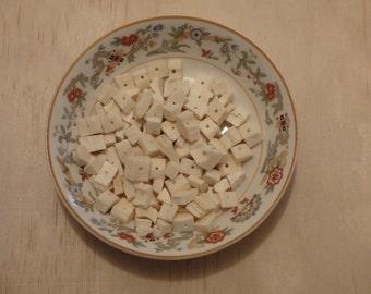 Bone Chip Beads.