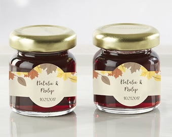 24 personalized strawberry jam fall wedding favors mini jam favors strawberry jam