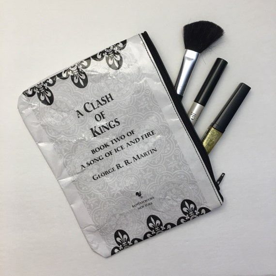 Game of Thrones Themed Vinyl Pencil or Make-Up Pouch - A Clash of Kings Title Page