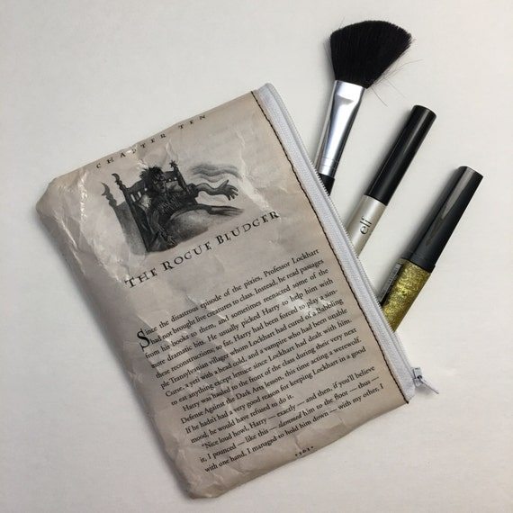 Harry Potter Book Themed Vinyl Pencil or Make-Up Pouch - The Rogue Bludger