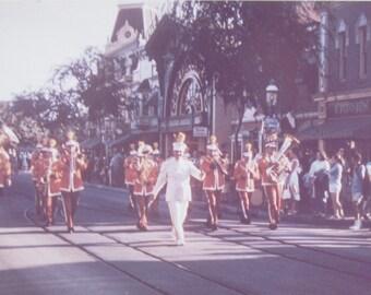 Original 1960 Disneyland Main Street Parade Anaheim California Color Snapshot Photo - Free Shipping