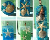 Tidepool Resin Pendants - Shells and Starfish Blues and Greens DIY Ocean Inspired Jewelry