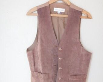 vintage suede leather vest *
