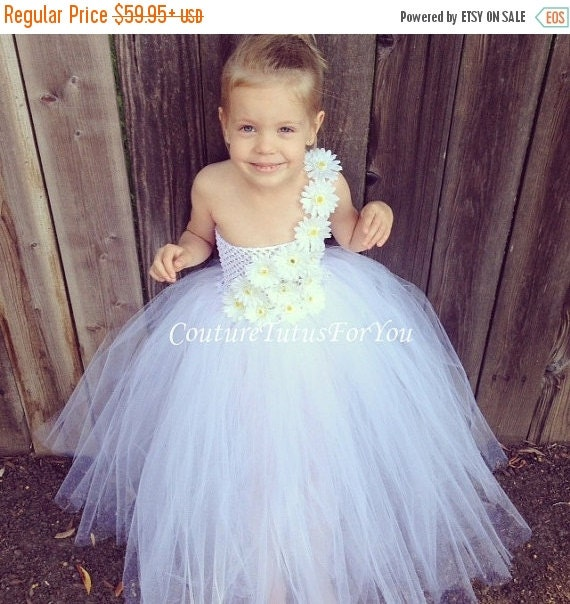 White Tulle Flower Girl Dresses Sale 70