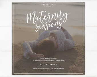 Maternity Photography Session Template - Instant Download