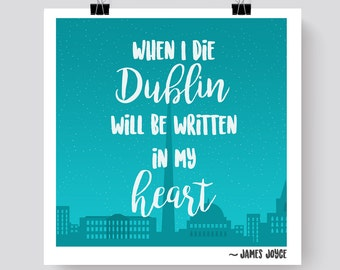 James Joyce Dublin Print