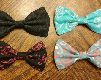 Paisley Bow CUSTOMIZABLE [hair bow OR bow tie]