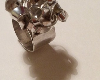 Sterling silver wrap up ring