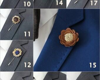 SALE 3 for price of 2, White lapel rose pin, Mens lapel flower, stick pin, lapel boutonniere, lapel boutonniere,rustic wedding boutonnniere,