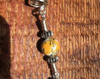 Lotus Flower charm loc and braid jewelry