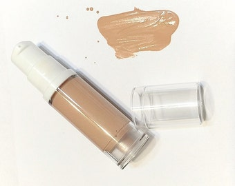 ALMOND Liquid ORGANIC Foundation - Natural Makeup Vegan Gluten Free - Serum Liquid Minerals