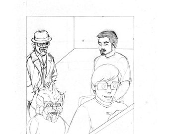 "Original Artwork - ""New Comic Day"" issue #317, Panel #1"