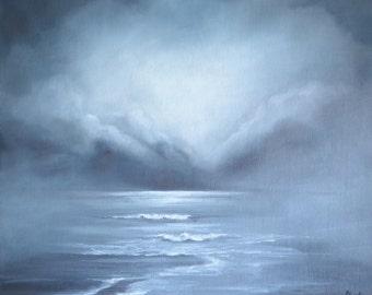 The Fog - Original Seascape Oil Painting by Sam Lyle