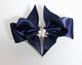 1 pcs/lot, 5 inch (125mm), Satin Bows, Wedding bows, boutique hair bows,hair clips,girls hair bows, adults hair bow
