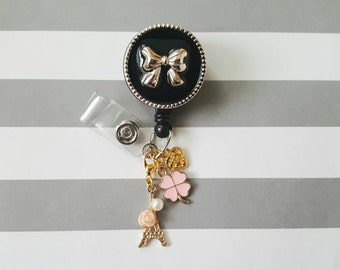 ID Badge Holder with charms