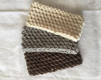 Set of Three Cozy Crochet Headband