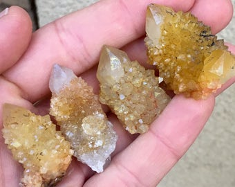 4pc Top Quality 54g Sunshine Spirit Quartz Crystal Set - Mpumalanga, South Africa - Item:Q170350