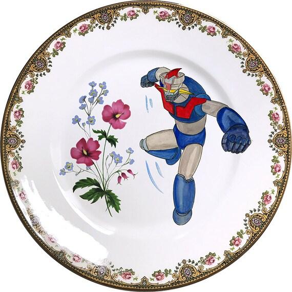 Mazinger Z - Vintage Porcelain Plate - #0464