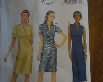 Butterick B5849, sizes vary, dress, UNCUT sewing pattern, craft supplies, misses, womens