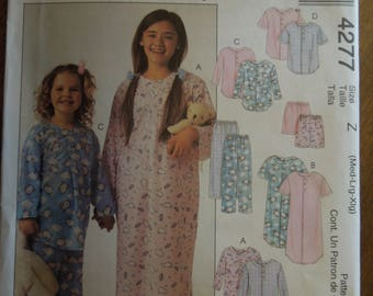 McCalls 4277, sizes med-exlarge, UNCUT sewing pattern, craft supplies, girls, childrens