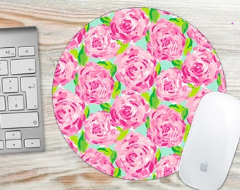 Mouse Pad Pink Roses Floral Flowers 7062
