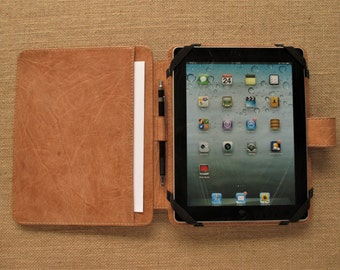 SALE! Leather iPad case / sleeve (for iPad 1,2,3,4) Handmade cover