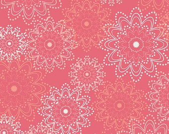 Essentials - Coral Sparkles Pat Bravo for Art Gallery Fabrics, 1/2 yard, ESS-2401
