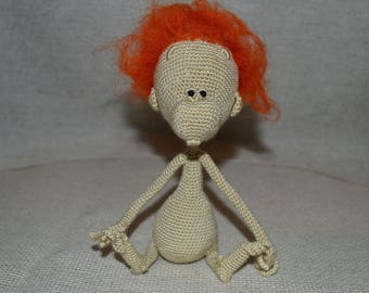 Crochet Monkey, Crocheted Toy, Amigurumi monkey, Marmoset toy