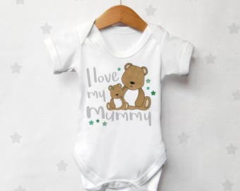 I Love My Mummy Baby Bear Vest
